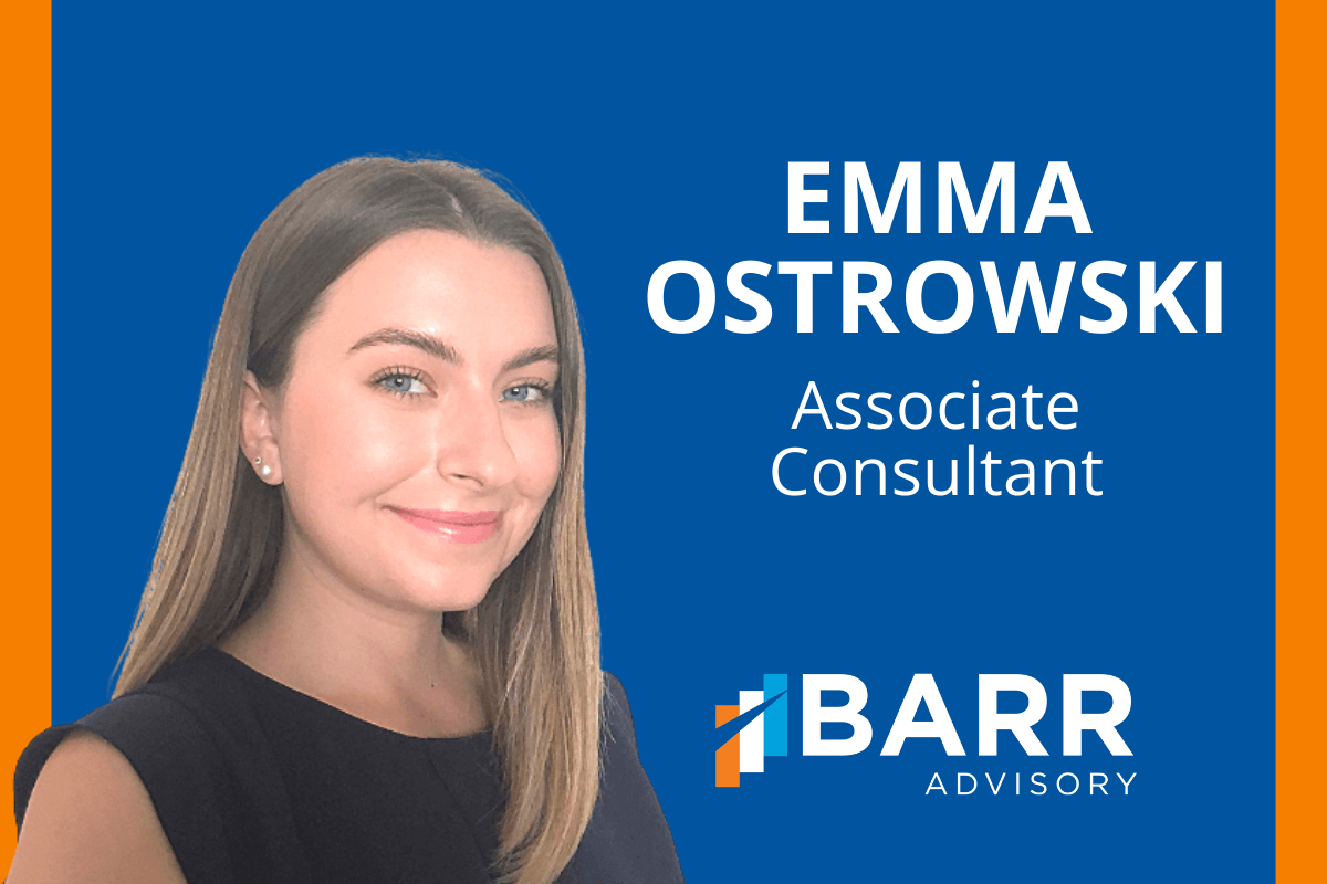 Meet BARR's new associate consultant Emma Ostrowski.